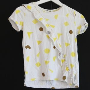 white yellow and gold shapes shirt